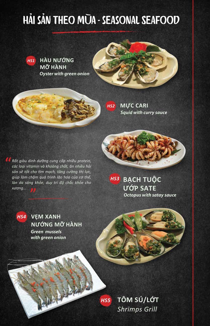 Menu Season BBQ - Bà Triệu 7