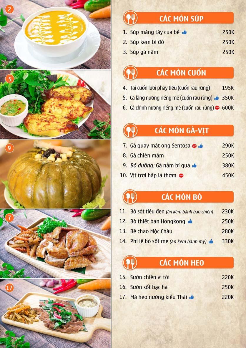 Menu Nhà hàng Sentosa  3
