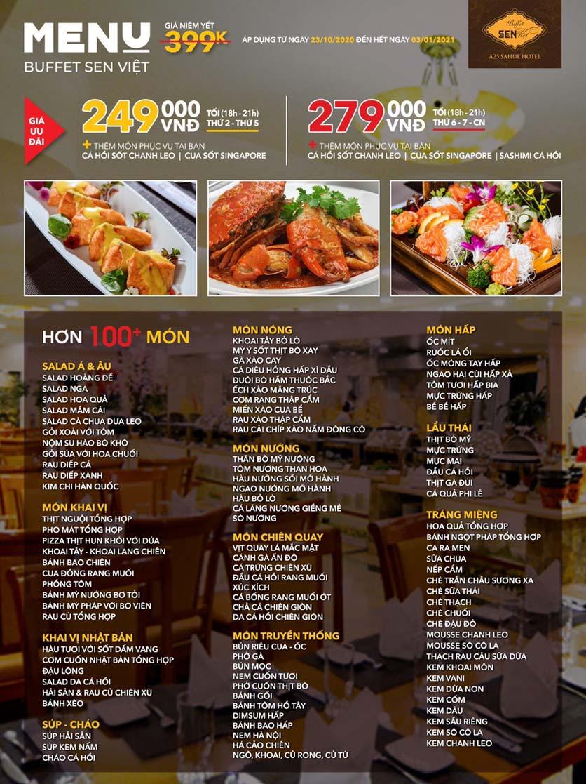 Menu Buffet Sen Việt - Minh Khai 1