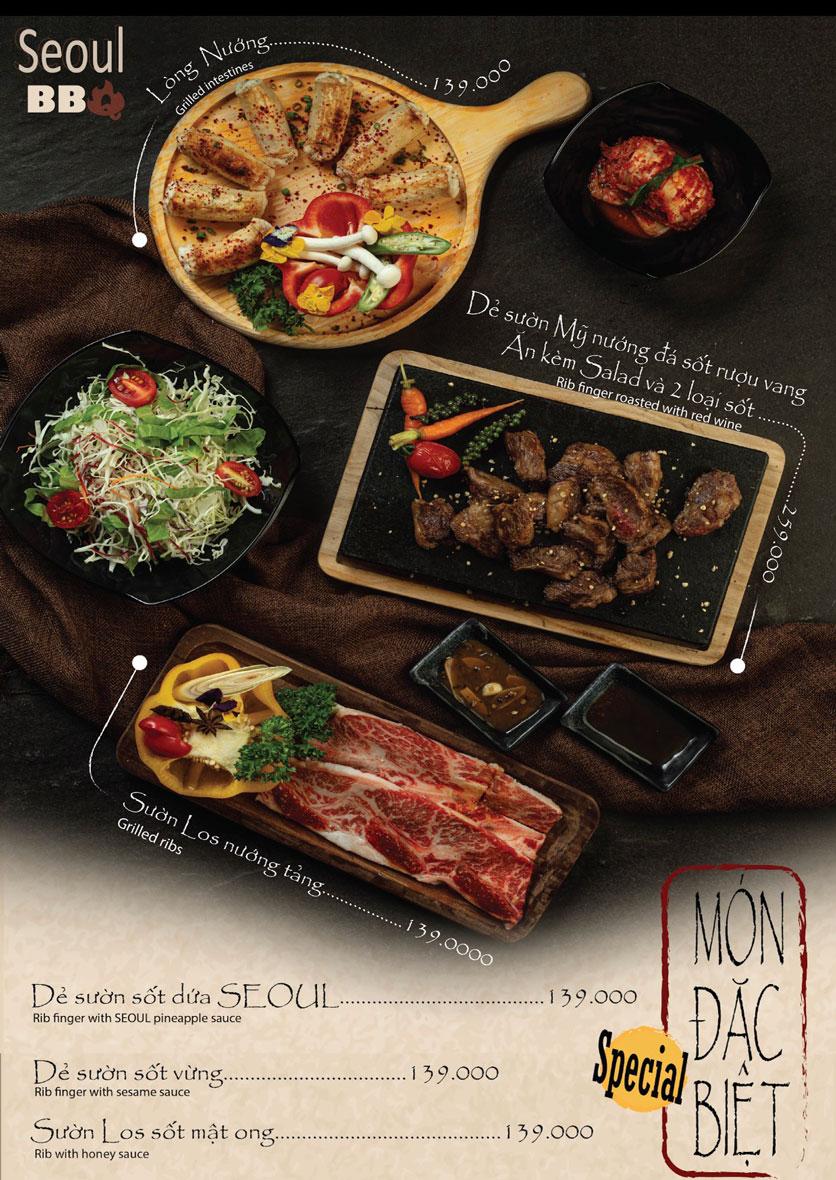Menu Seoul BBQ - Nguyễn Trường Tộ 7