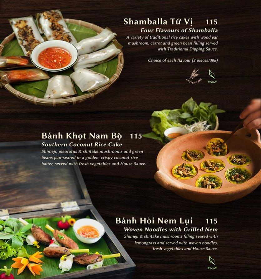 Menu Shamballa Vegetarian Restaurant & Tea House  12