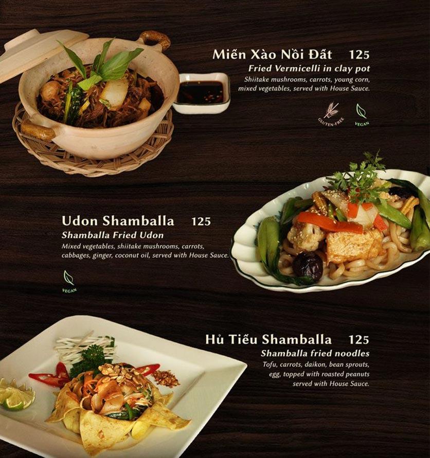 Menu Shamballa Vegetarian Restaurant & Tea House  13