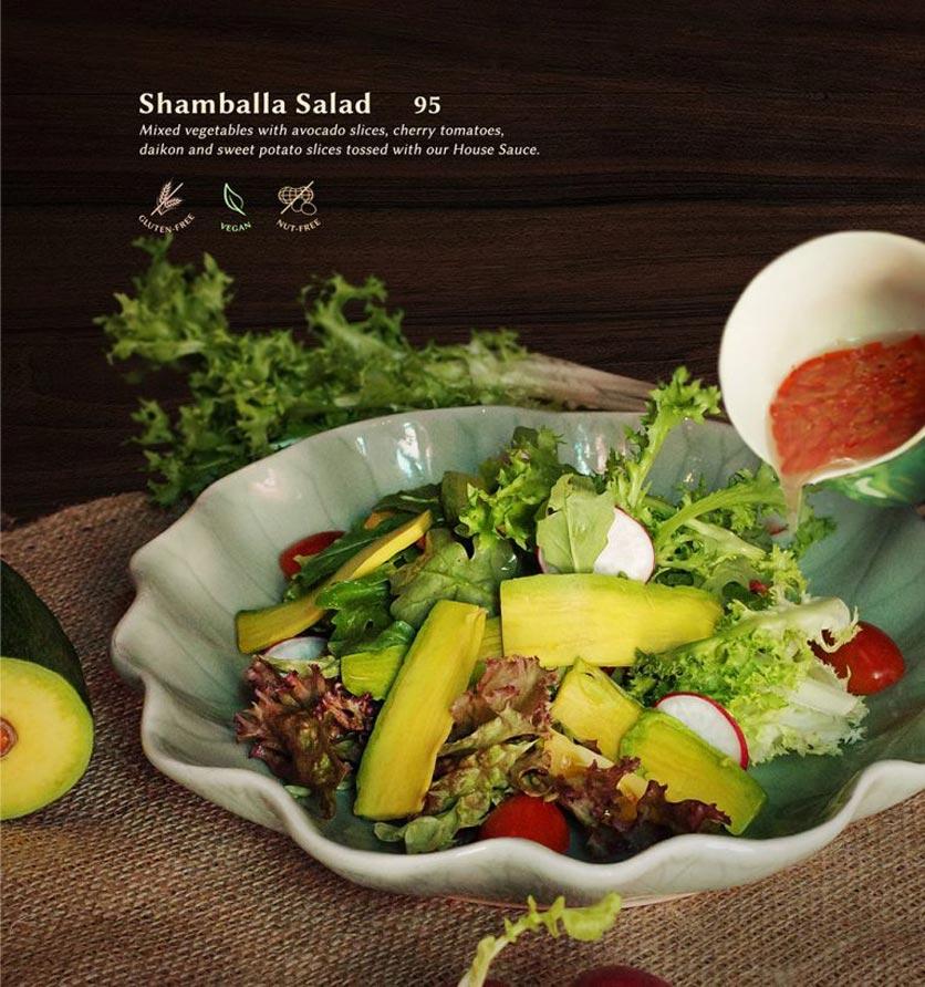 Menu Shamballa Vegetarian Restaurant & Tea House  2