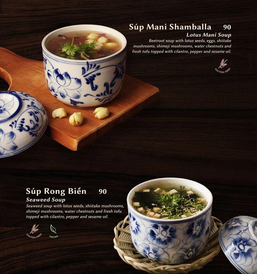 Menu Shamballa Vegetarian Restaurant & Tea House  22