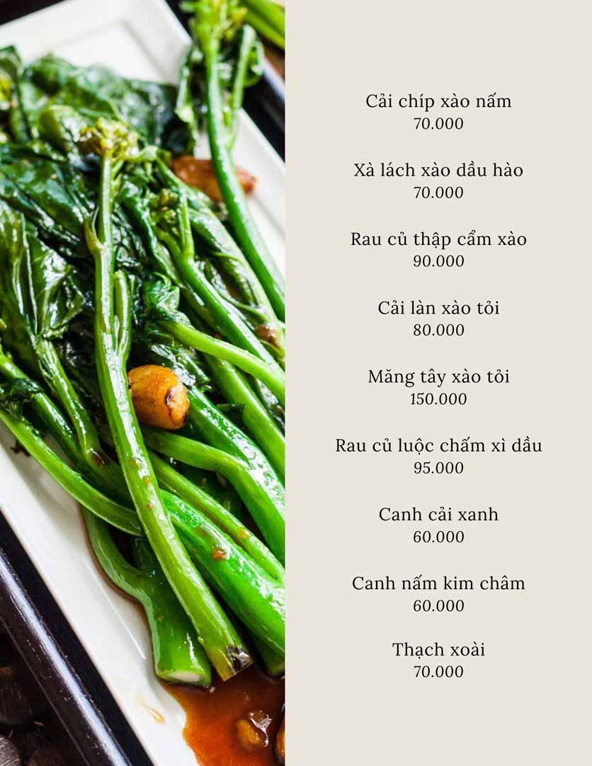 Menu SIGN By A1 - Trung Hòa 24