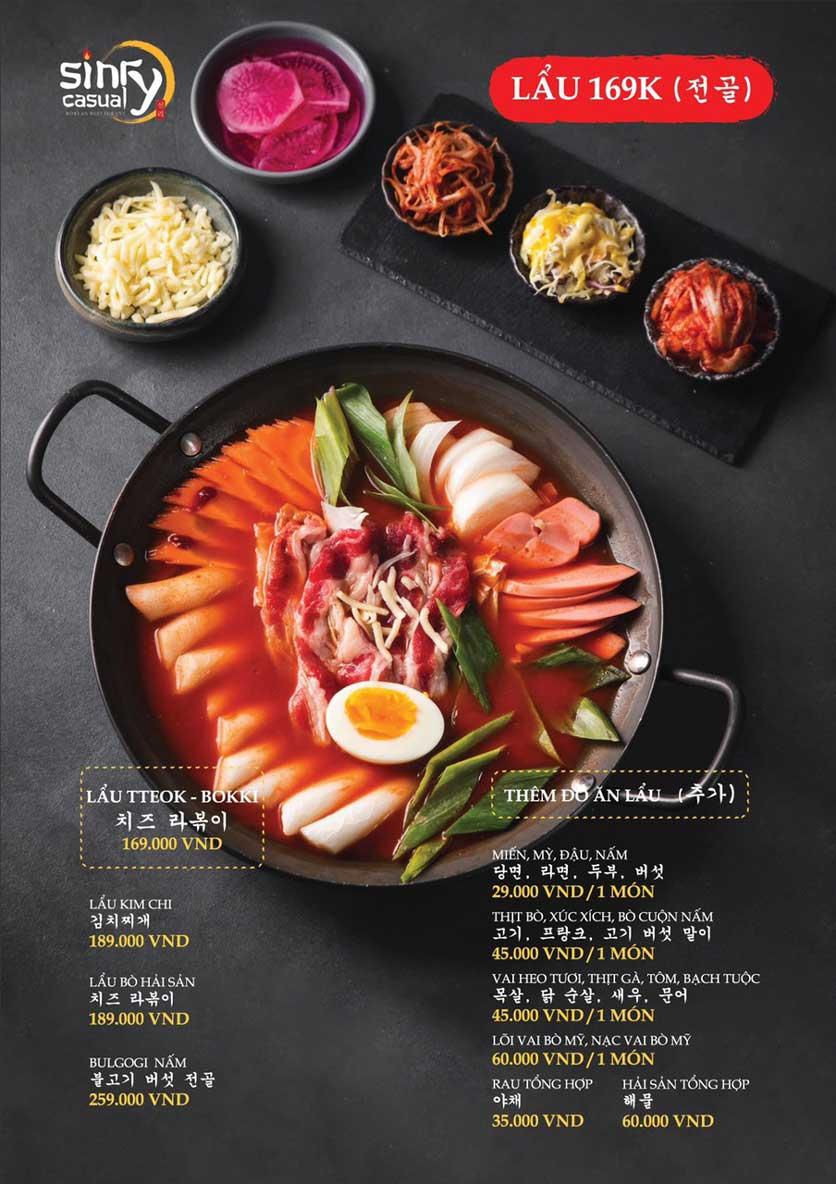 Menu Sinry Bulgogi - Triều Khúc     6