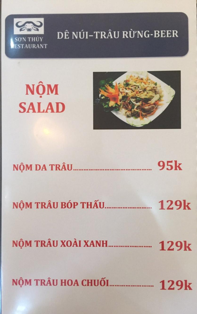 Menu Sơn Thủy Restaurant - Chuyên dê tươi - Nguyễn Văn Lộc 1