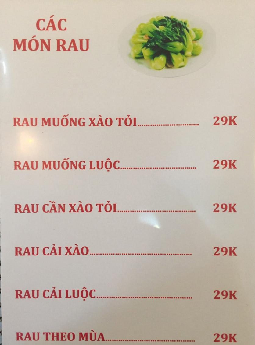 Menu Sơn Thủy Restaurant - Chuyên dê tươi - Nguyễn Văn Lộc 4