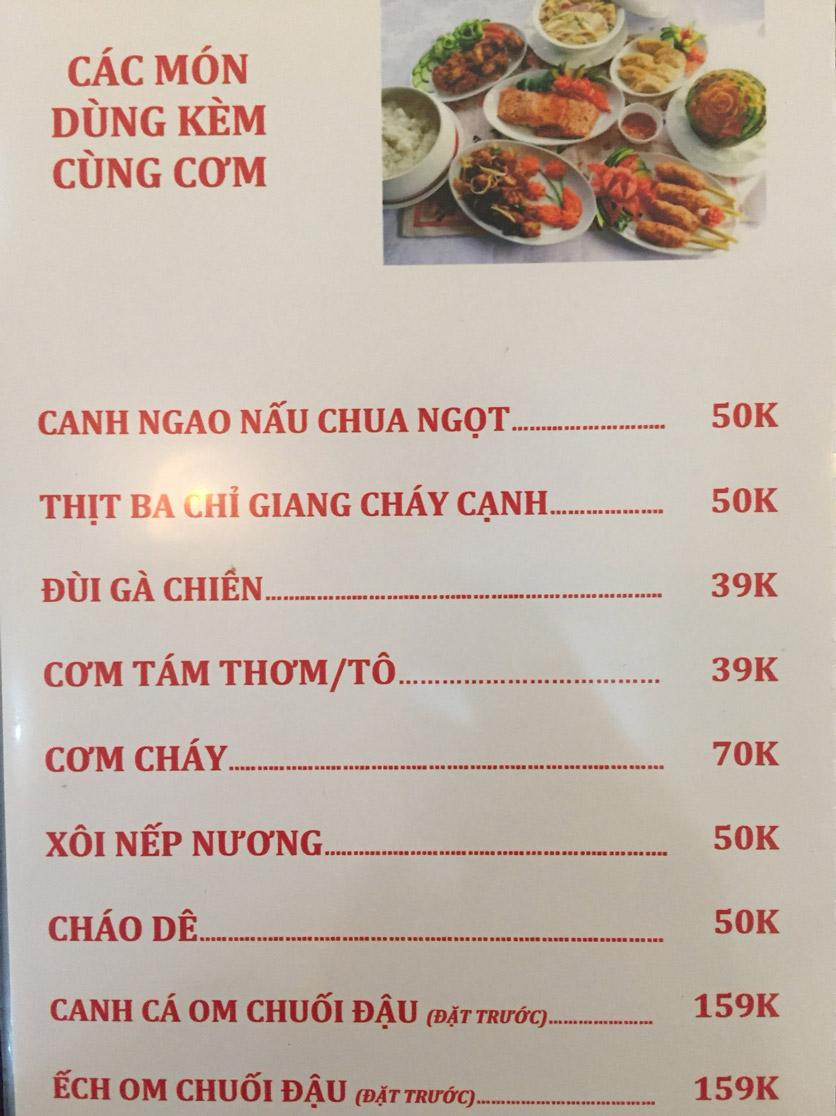 Menu Sơn Thủy Restaurant - Chuyên dê tươi - Nguyễn Văn Lộc 6