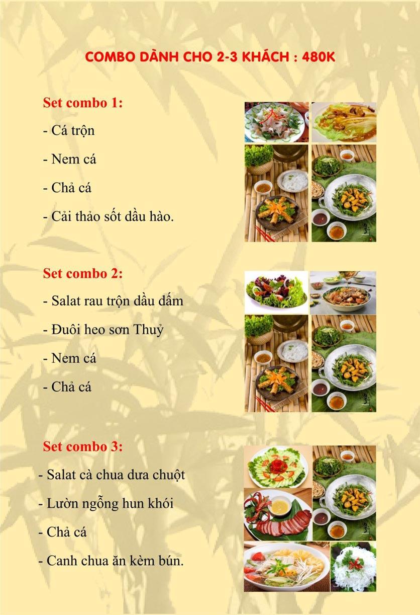 Menu Sơn Thủy Restaurant - Phạm Huy Thông 1