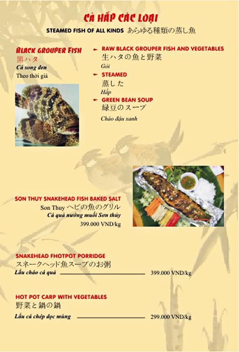 Menu Sơn Thủy Restaurant - Phạm Huy Thông 12