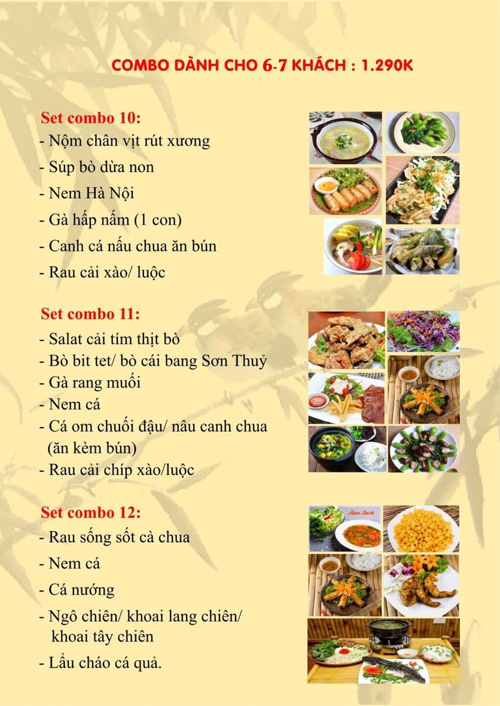 Menu Sơn Thủy Restaurant - Phạm Huy Thông 4