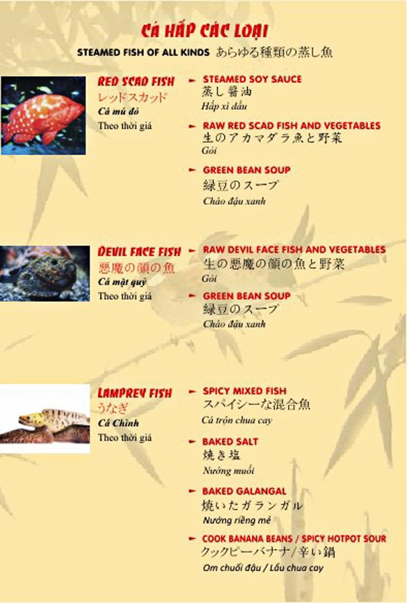 Menu Sơn Thủy Restaurant - Phạm Huy Thông 8