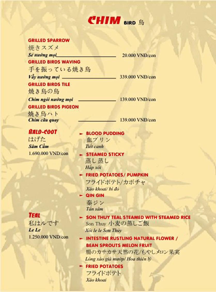 Menu Sơn Thủy Restaurant - Phạm Huy Thông 9