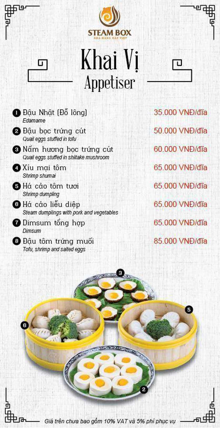 Menu Steam Box  - Nguyễn Thị Định 1