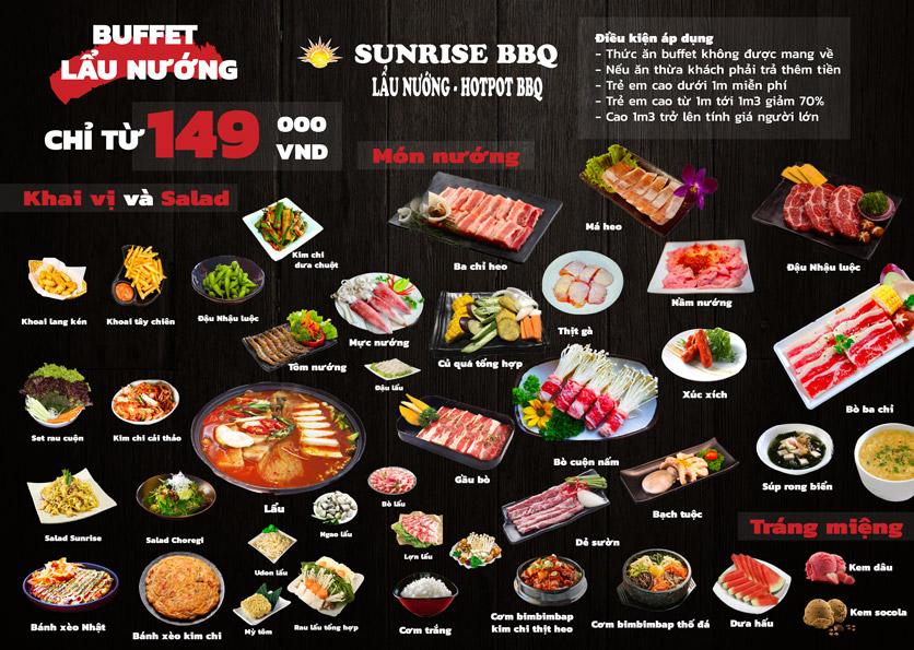 Menu Sunrise – BBQ & Hotpot – Bạch Đằng  4