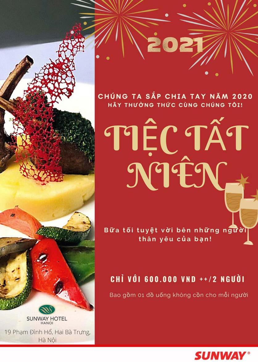 Menu Khách sạn Sunway Hotel Hanoi – The Restaurant 1