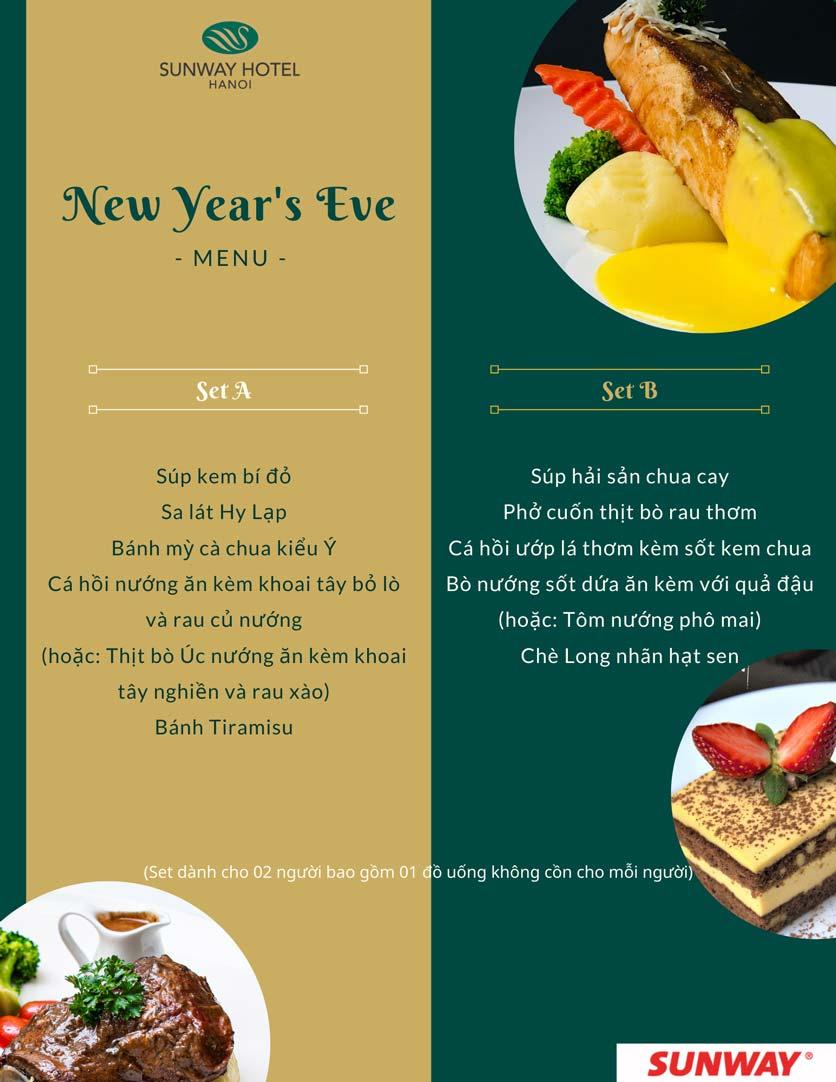 Menu Khách sạn Sunway Hotel Hanoi – The Restaurant 2