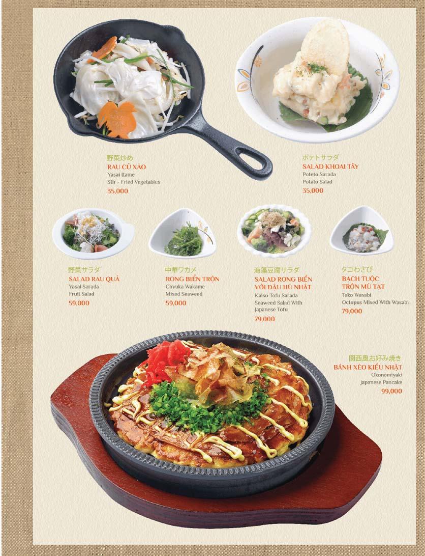 Menu Sushi Kei – Lotte Center 12