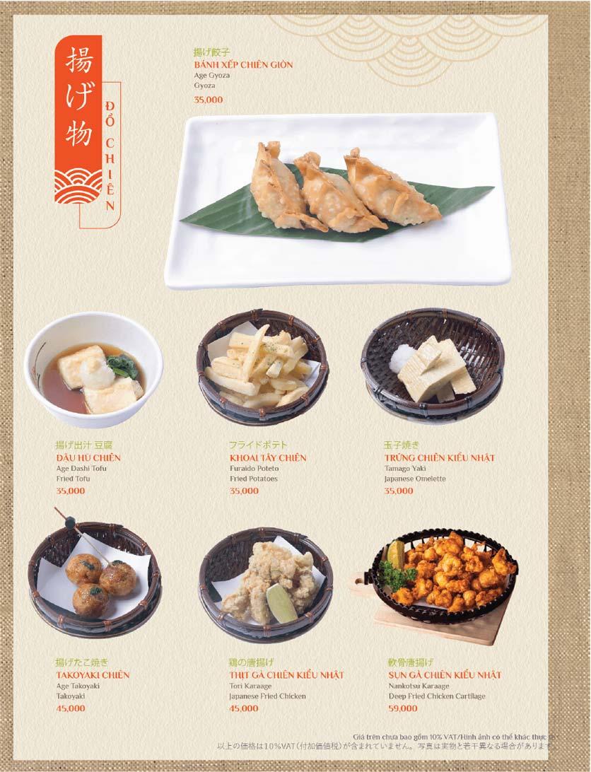 Menu Sushi Kei – Lotte Center 13