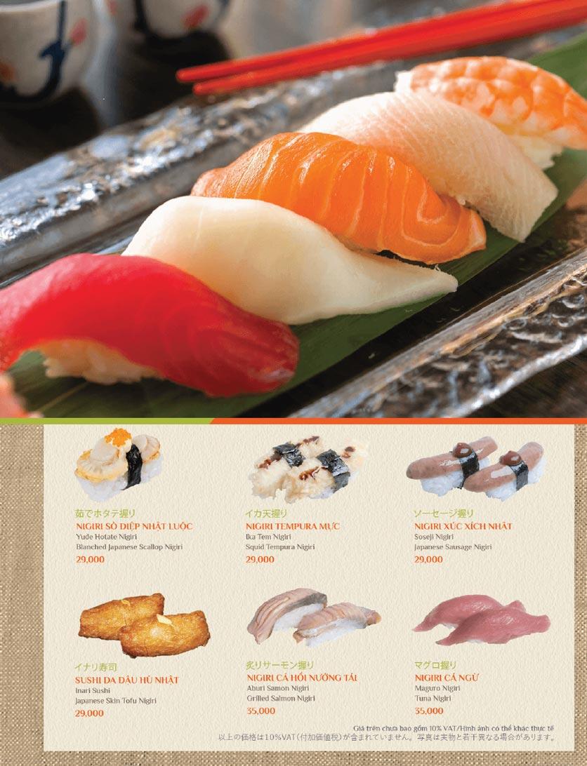 Menu Sushi Kei – Lotte Center 2