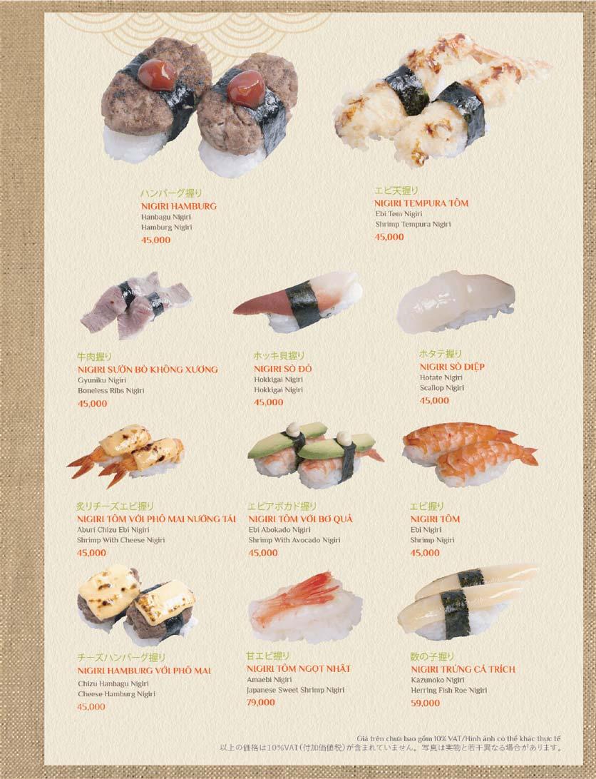 Menu Sushi Kei – Lotte Center 4