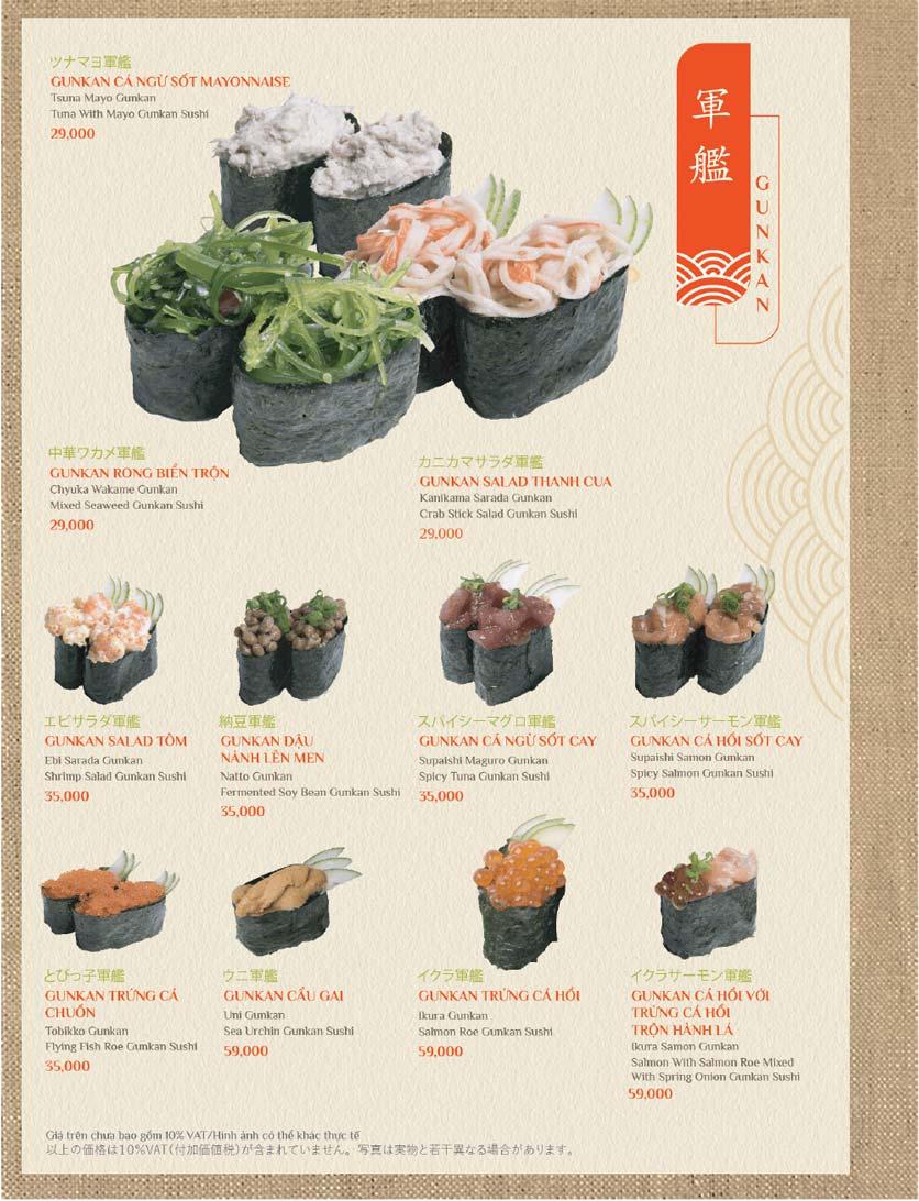 Menu Sushi Kei – Lotte Center 5