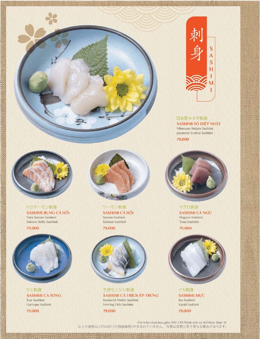 Menu Sushi Kei – Lotte Center 9