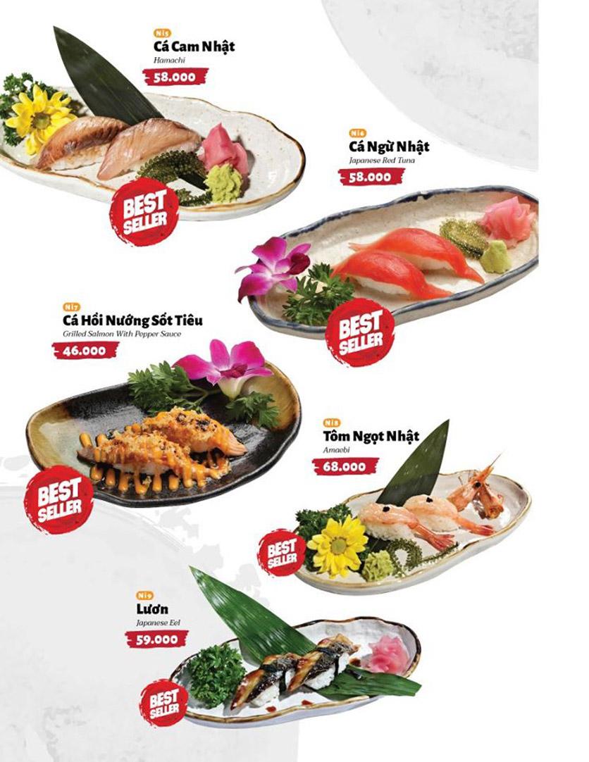 Menu Sushi Masa - Đường 3/2 1