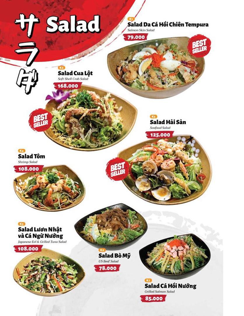 Menu Sushi Masa - Đường 3/2 11