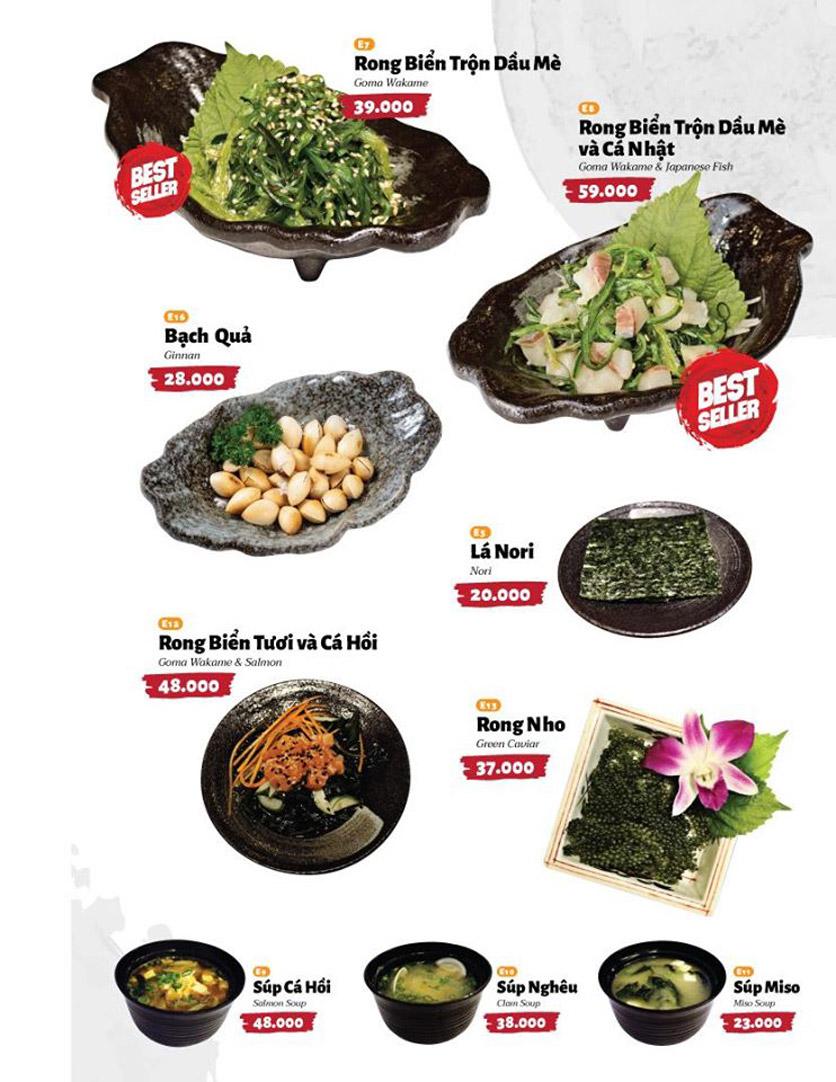 Menu Sushi Masa - Đường 3/2 12