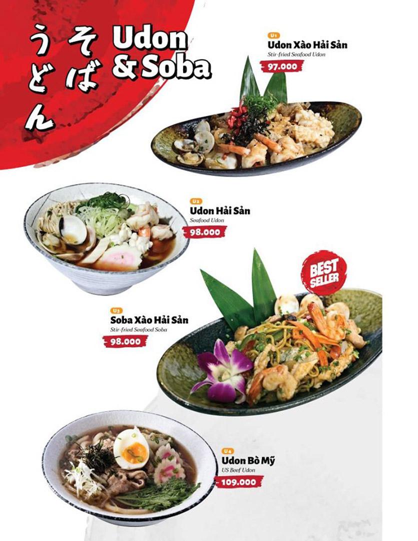 Menu Sushi Masa - Đường 3/2 13
