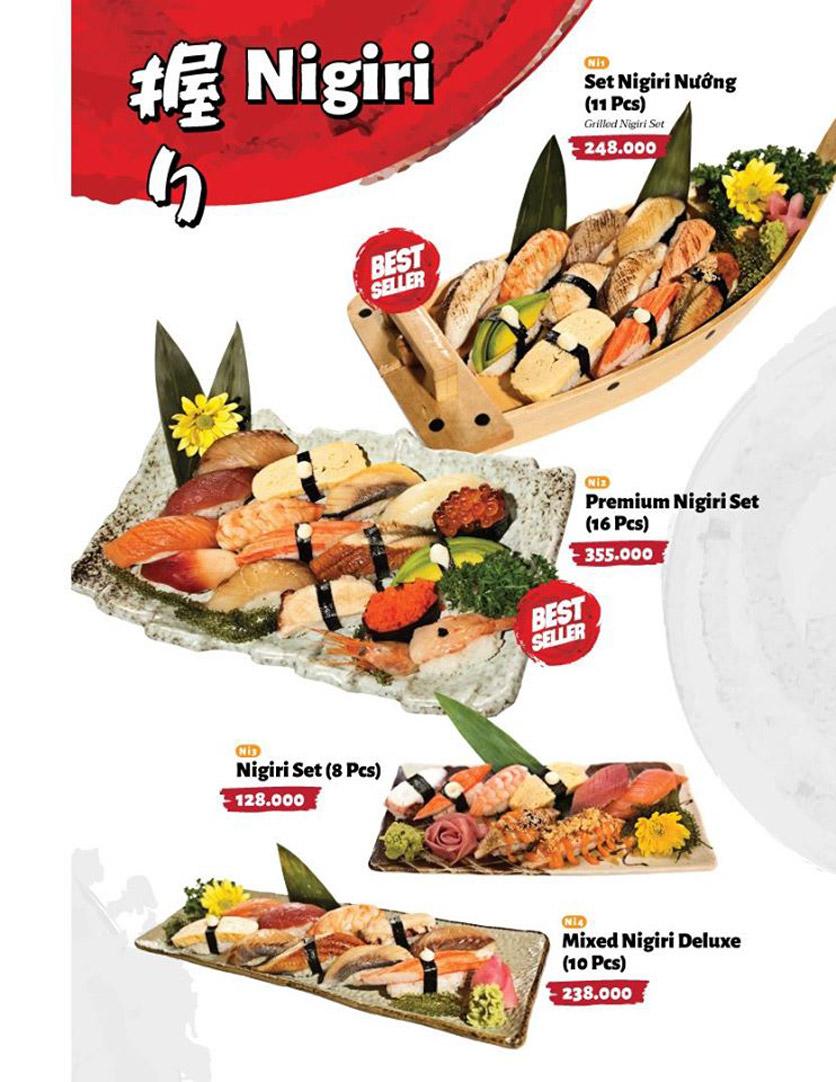 Menu Sushi Masa - Đường 3/2 15