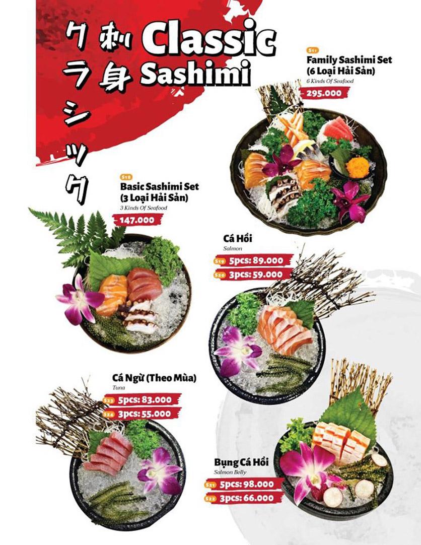 Menu Sushi Masa - Đường 3/2 16