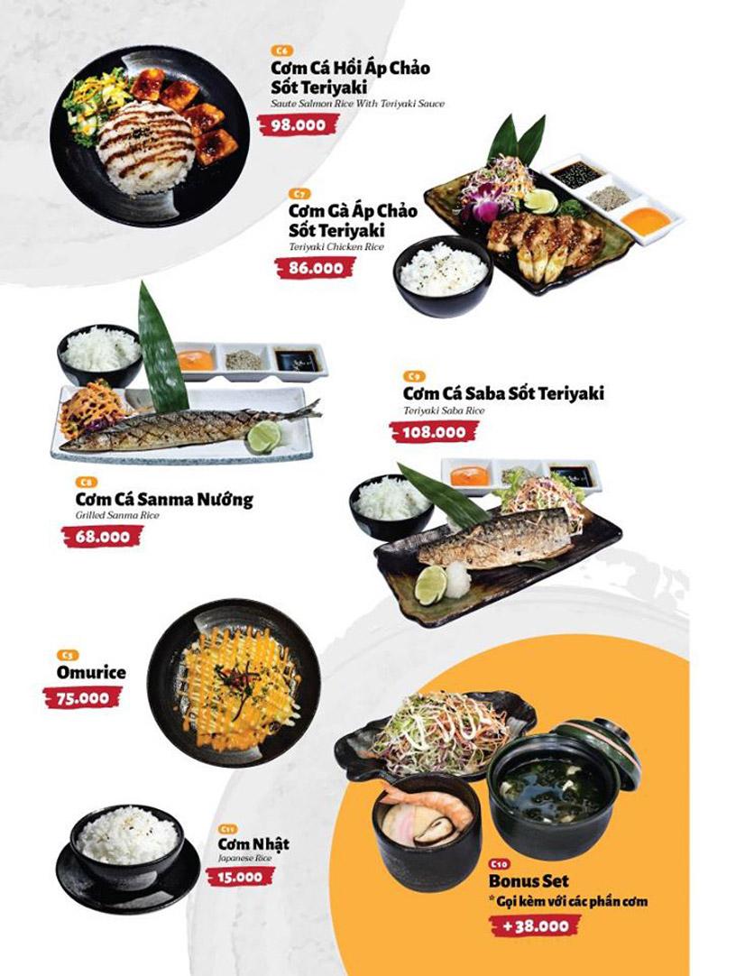 Menu Sushi Masa - Đường 3/2 17