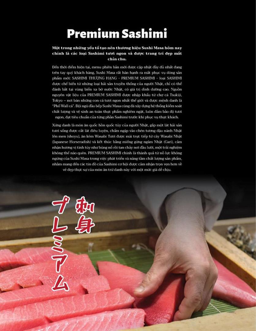 Menu Sushi Masa - Đường 3/2 19