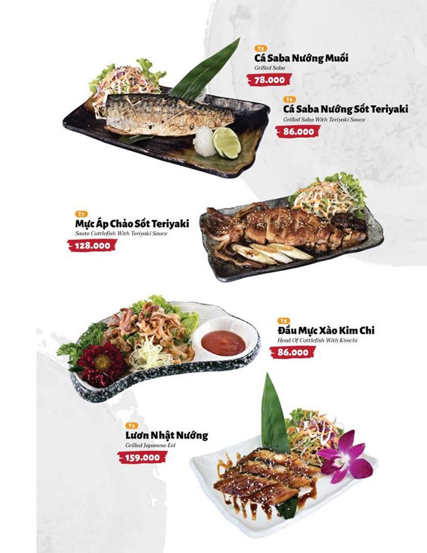Menu Sushi Masa - Đường 3/2 2