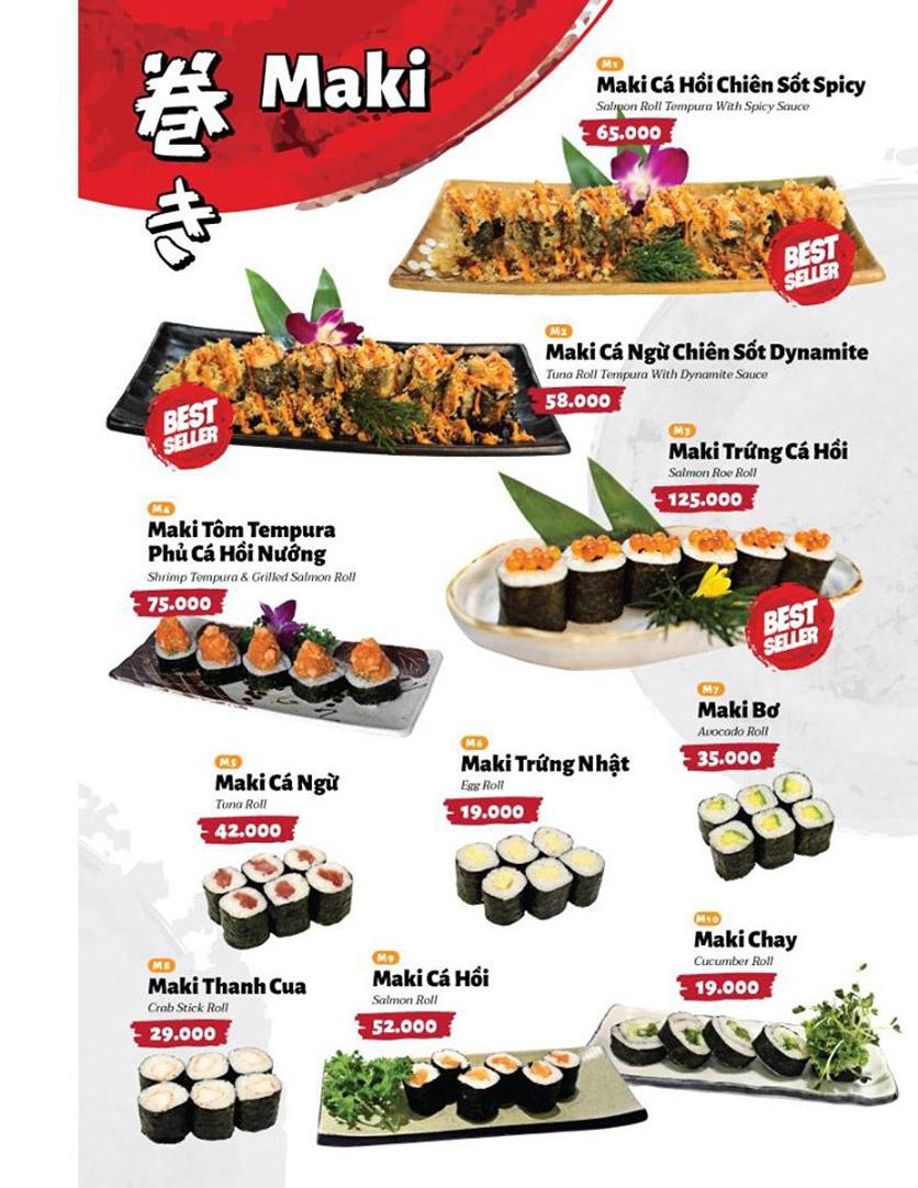 Menu Sushi Masa - Đường 3/2 22
