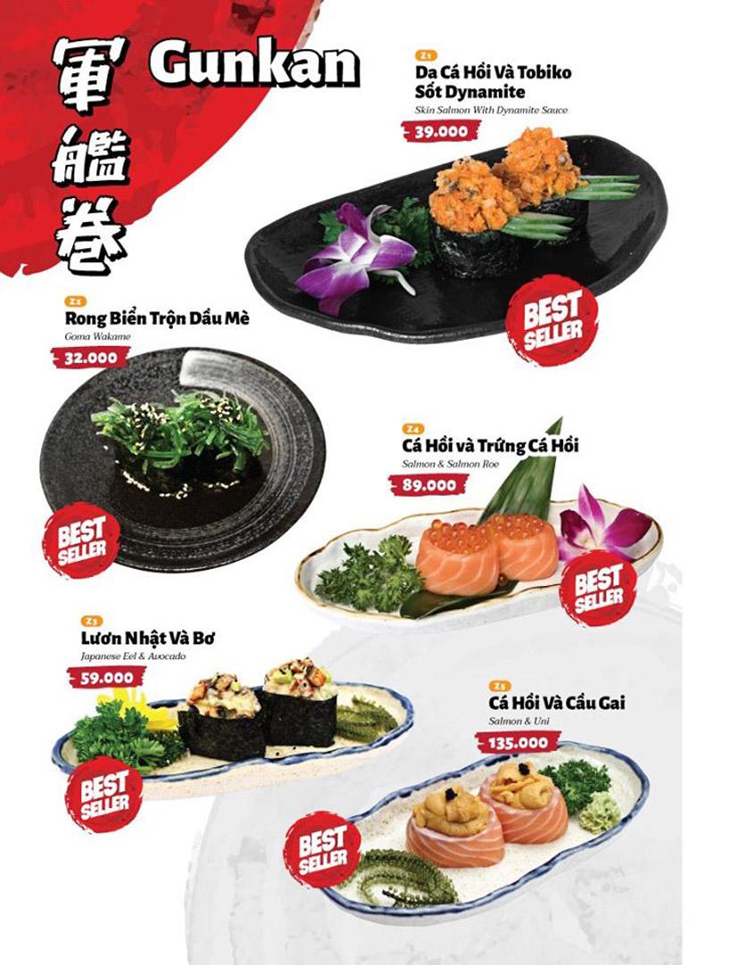 Menu Sushi Masa - Đường 3/2 24