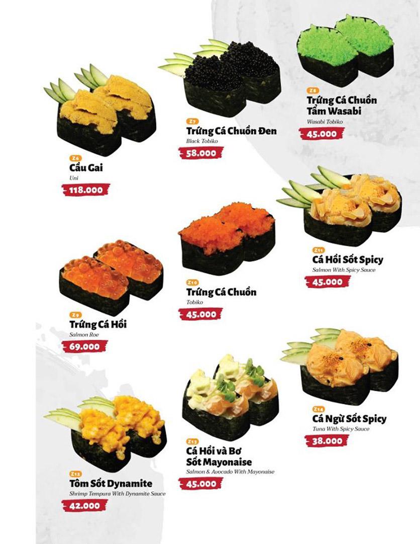 Menu Sushi Masa - Đường 3/2 27
