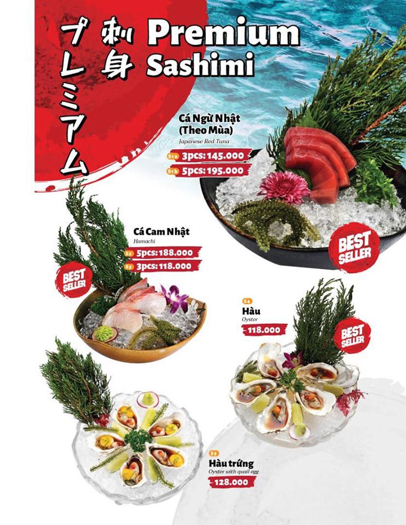Menu Sushi Masa - Đường 3/2 29