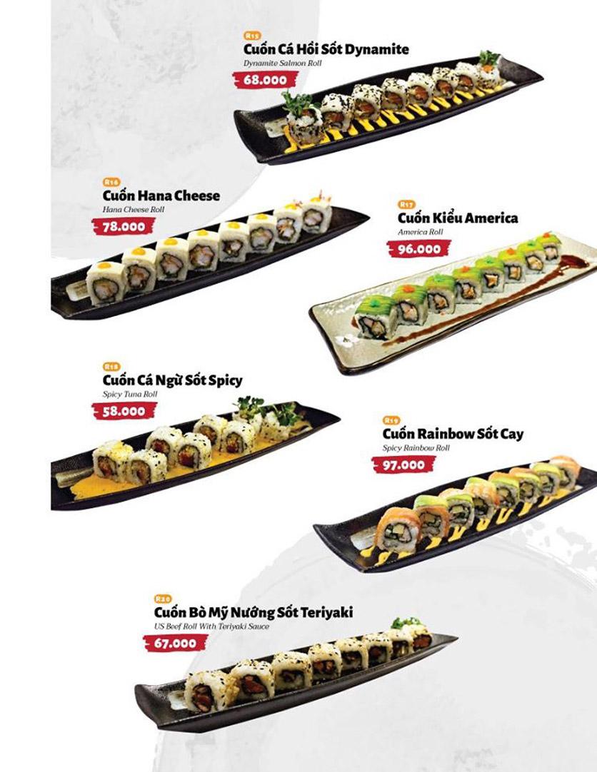 Menu Sushi Masa - Đường 3/2 30