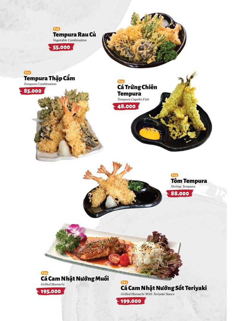 Menu Sushi Masa - Đường 3/2 31