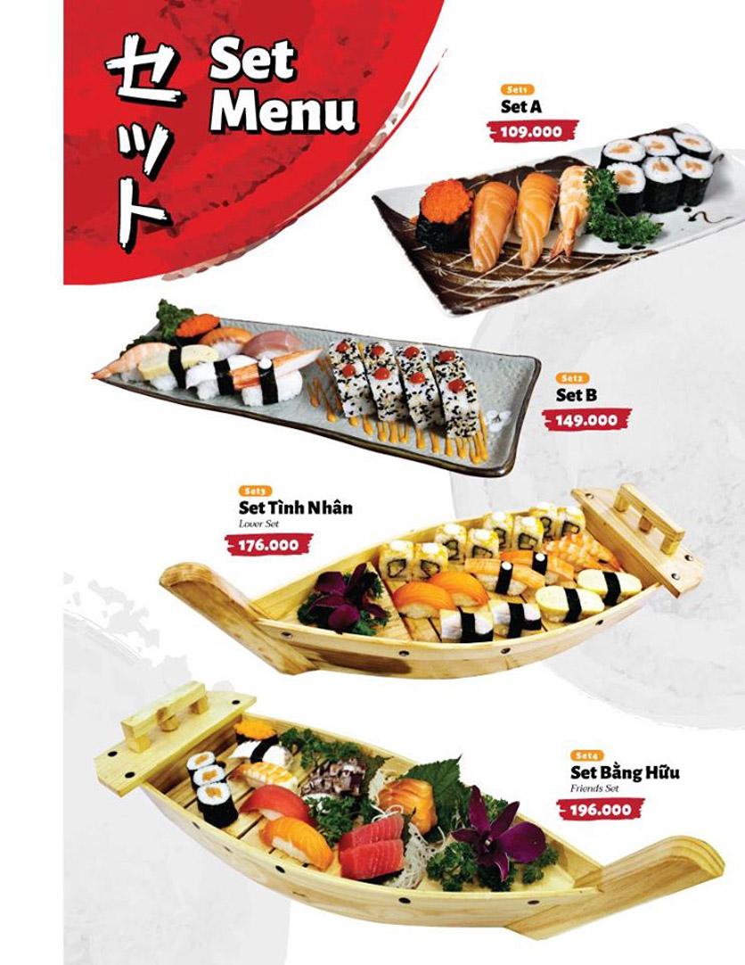 Menu Sushi Masa - Đường 3/2 32