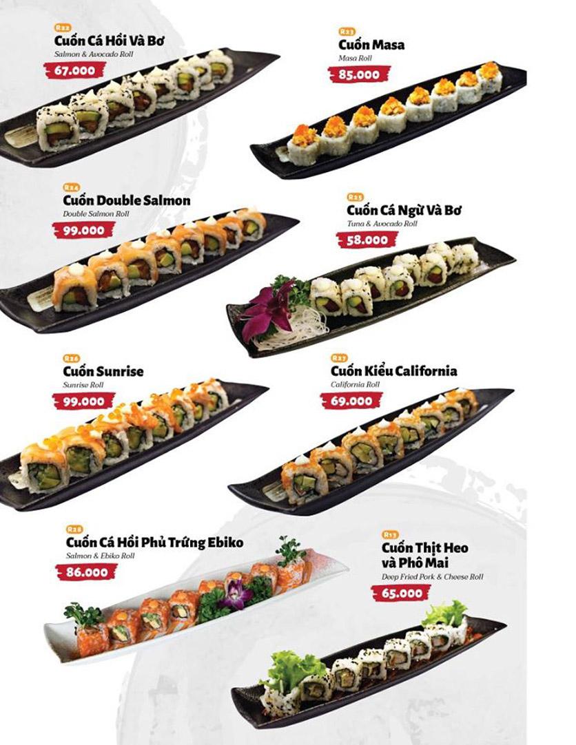 Menu Sushi Masa - Đường 3/2 33