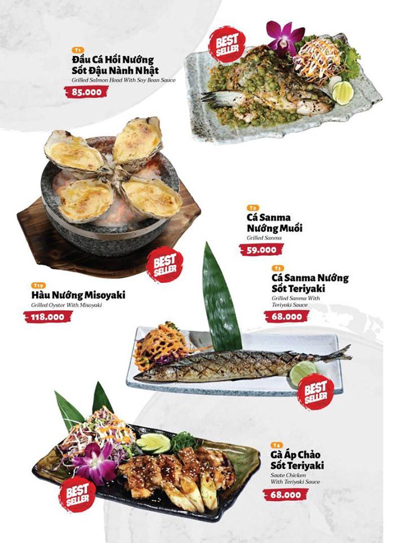 Menu Sushi Masa - Đường 3/2 34