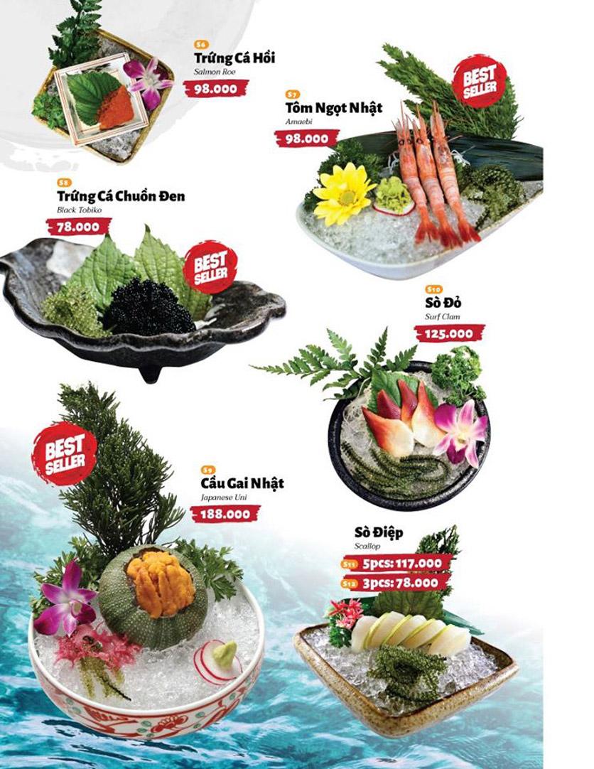 Menu Sushi Masa - Đường 3/2 36
