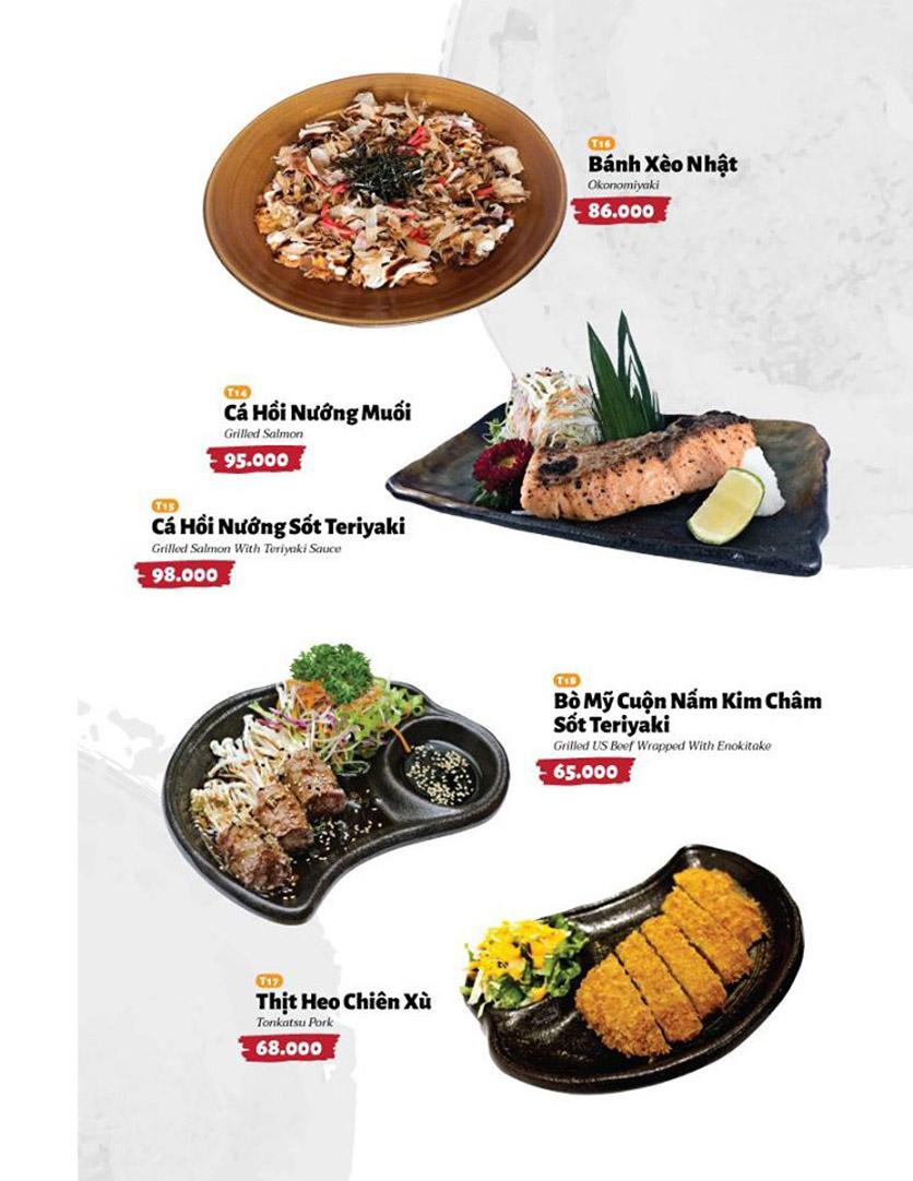 Menu Sushi Masa - Đường 3/2 4
