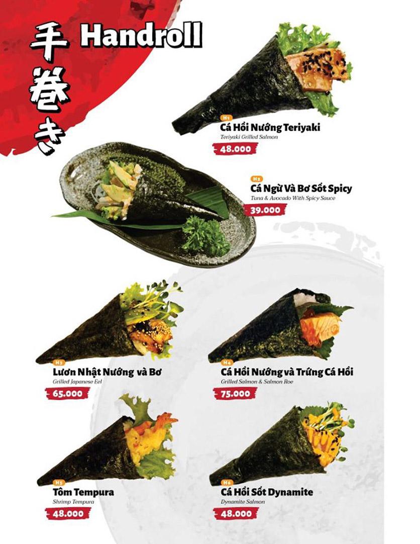 Menu Sushi Masa - Đường 3/2 5