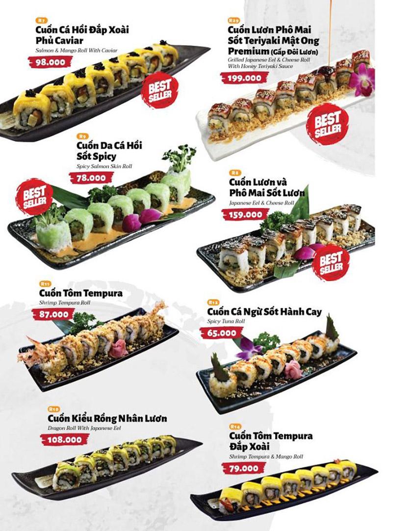 Menu Sushi Masa - Đường 3/2 6